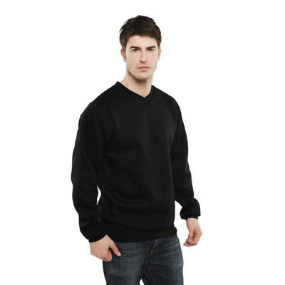 BZD Votvin Long Sleeve V-Neck Sweat Shirt Men's Sweat Shirt Image Black XS