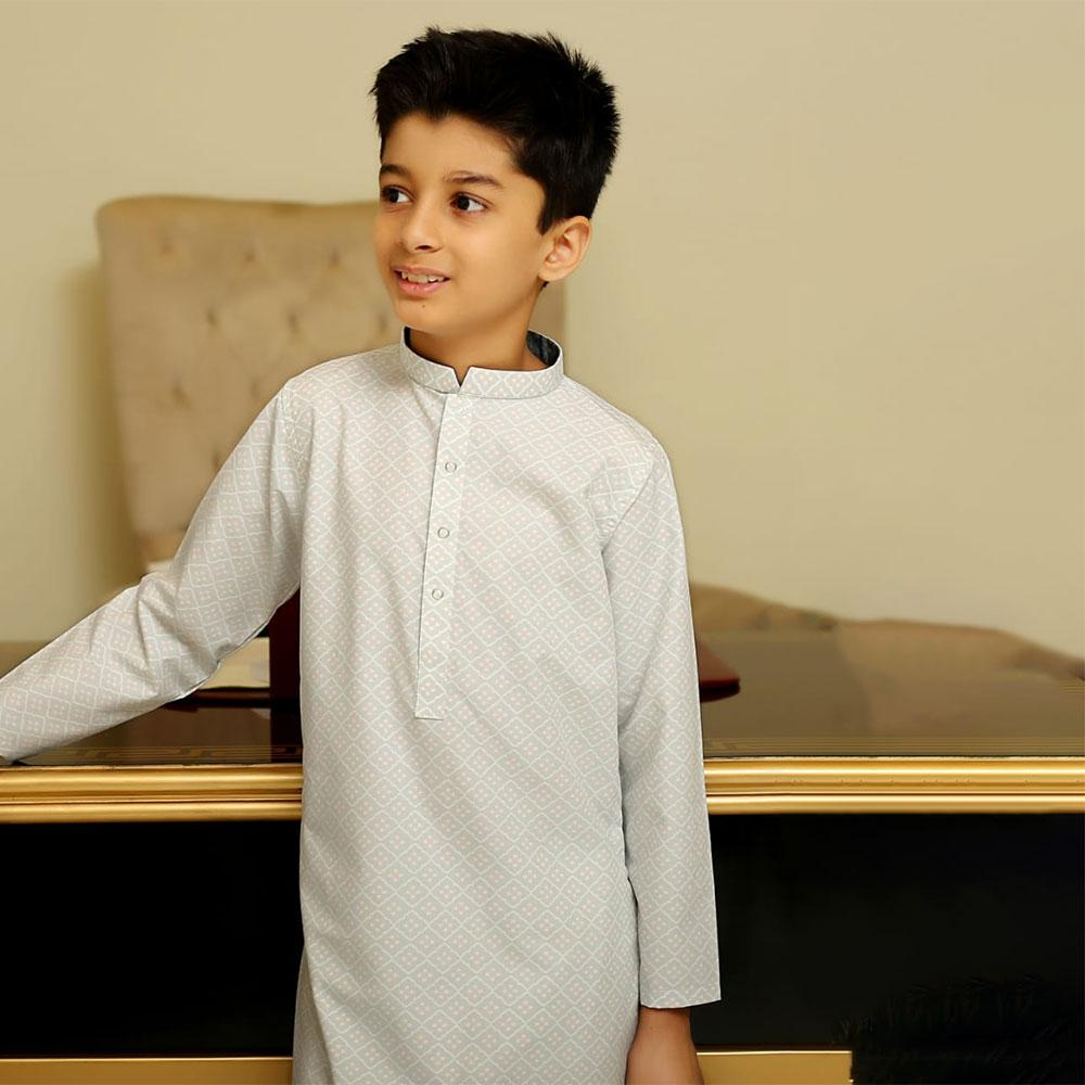 Boy's Classical Turkish Design Printed Kurta Boy's Kurta YTC 3-4 Years