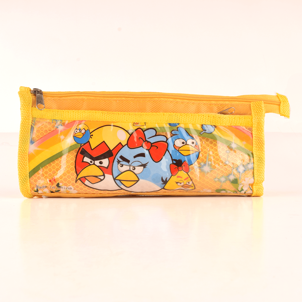 HDY Kid's Angry Birds Home Coming Double Zip Stationary Pouch Stationary & General Accessories HDY Yellow