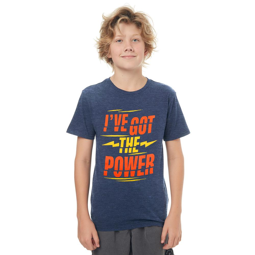 ASE I Have Got Power Boy's Tee Shirt Boy's Tee Shirt ASE Jeans Marl 14