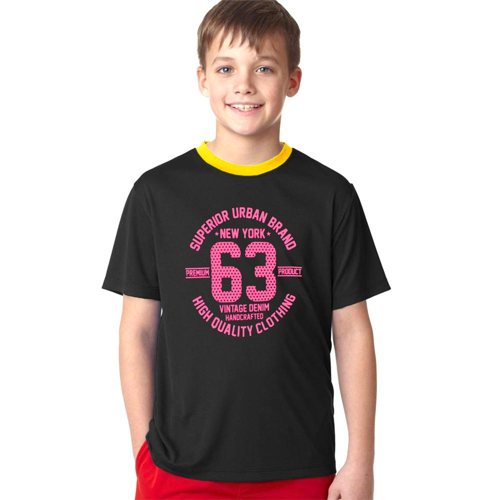 Polo Republica New York 63 Ringer Tee Shirt Boy's Tee Shirt Polo Republica Black Yellow 2 Years