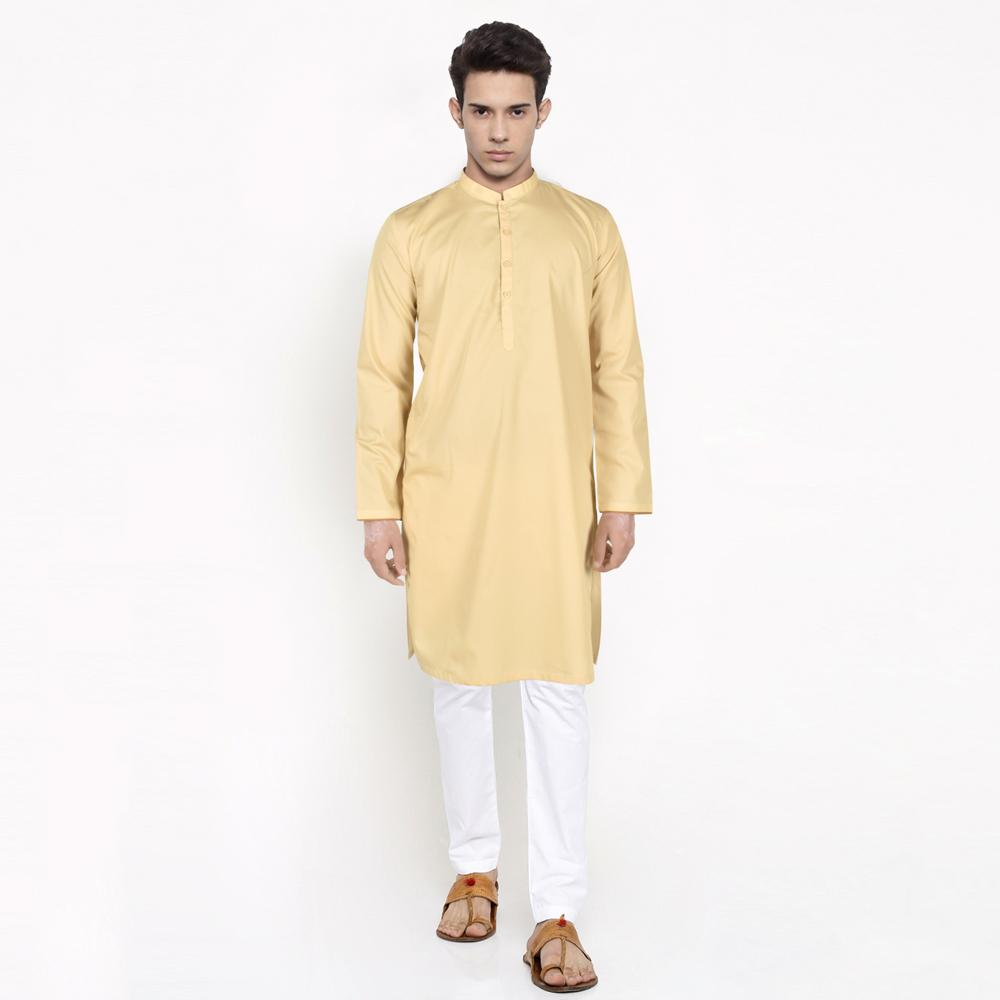 Polo Republica Amad Bahaar Arylide Yellow Dyed Kurta Men's Kurta RDS S