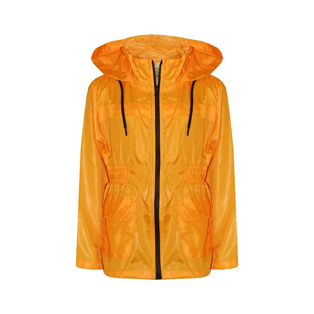 A2Z Women's Birekte Ultra Light Windbreaker Jacket Women's Sweat Shirt AGZ Deep Yellow 5-6
