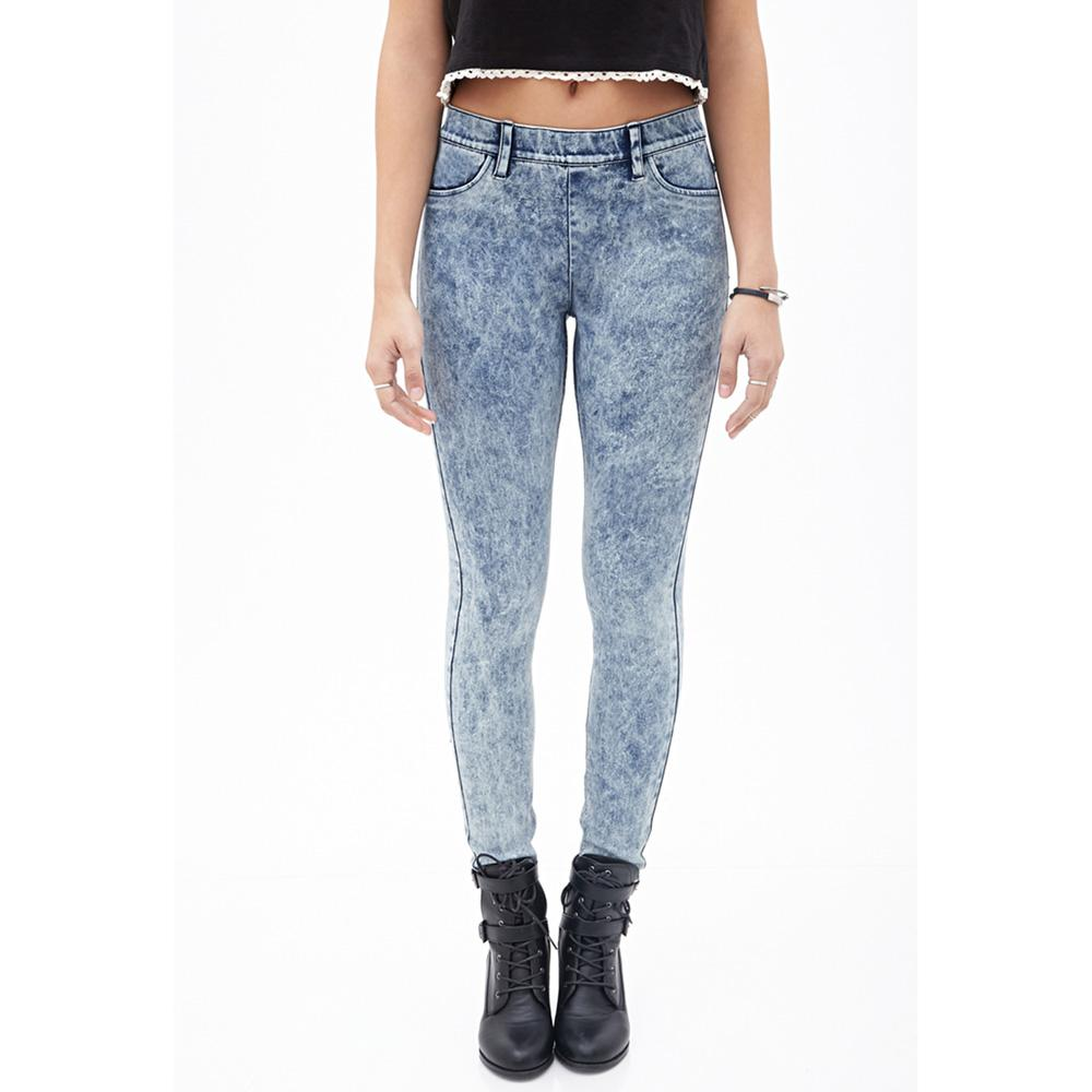 HM Girls Acid Wash Comfy Denim Jeggings