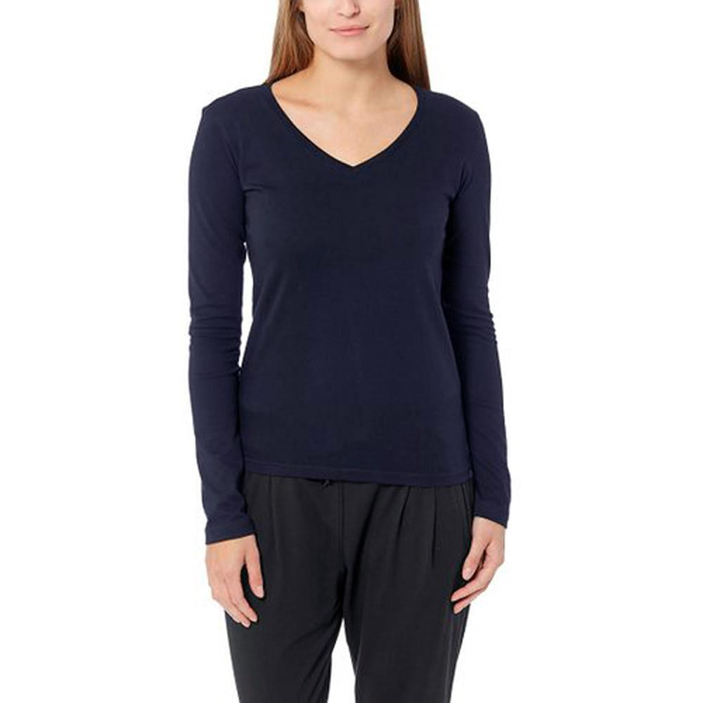 BYD V-Neck Long Sleeve Minor Fault Tee Shirt