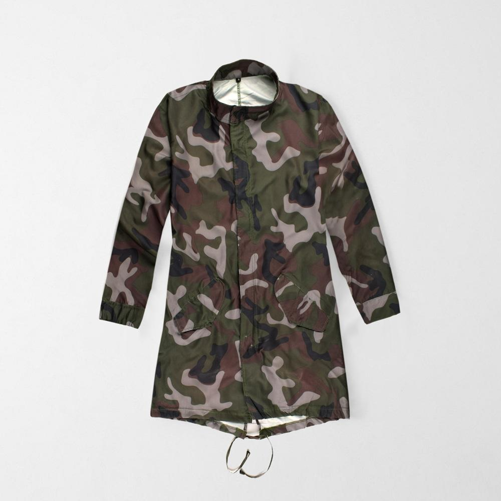 Rising Women's Vesdby Army Camo Windbreaker Jacket Women's Jacket AGZ 8