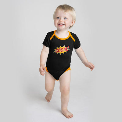 Polo Republica Boom Baby Romper Babywear Polo Republica Black Yellow 0-3 Months