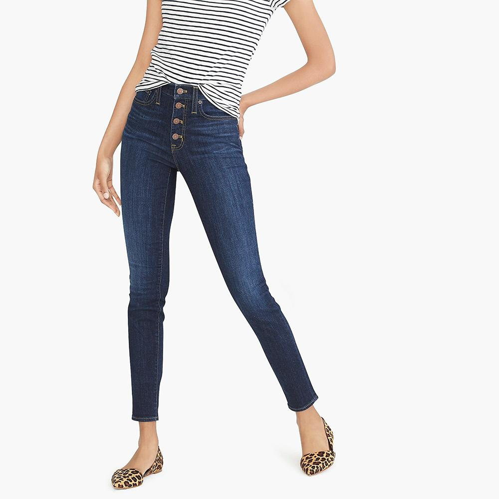 J.Crew Women's Blue Wash Skinny Fit Denim Women's Denim SRK 24 28