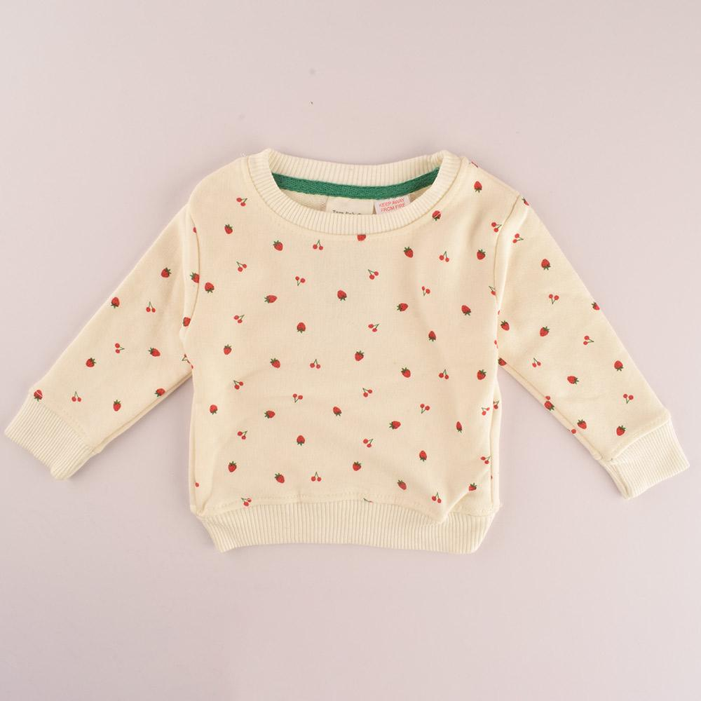 ZR Kid's Strawberry Fun Terry Sweat Shirt