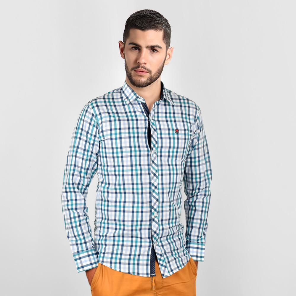 AHE Massimo Dutti Spectacular Check Design Casual Shirt Men's Casual Shirt AHE M
