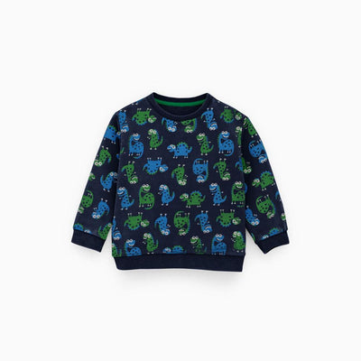 ZR Kids Cartoon Printed Fleece Sweat Shirt Boy's Sweat Shirt First Choice 3-6 Months