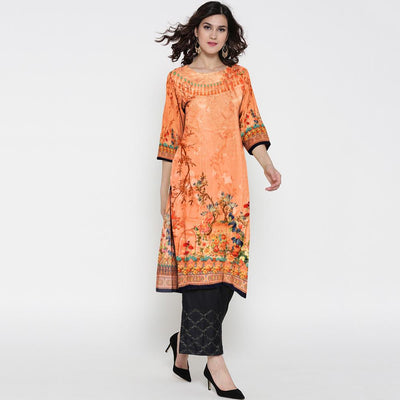 Digital Printed Ezzahra Unstitched Lawn Kurti