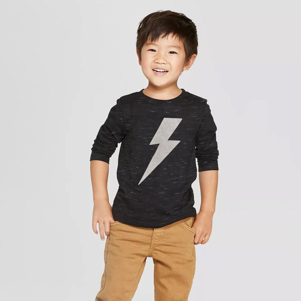 ZR Flash Logo Long Sleeves Tee Shirt Boy's Tee Shirt SNC 3-6 Months
