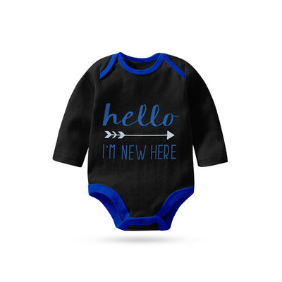 Polo Republica I'm New Here Long Sleeve Baby Romper Babywear Polo Republica 0-3 Months