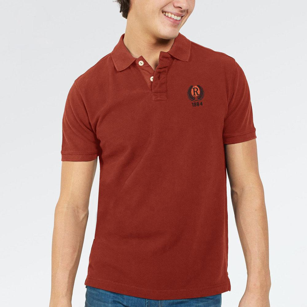 Figueiraou 1984 Men's Cut Label Polo Shirt Men's Polo Shirt NMA Brick Red XS