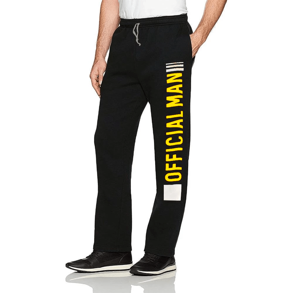 Polo Republica Official Man Fleece Trousers Men's Sweat Pants Polo Republica Black Yellow S
