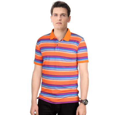 Datch Dudes Blaustein Multi Contrast Striper Polo Shirt Men's Polo Shirt First Choice S