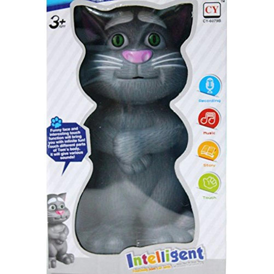 Intelligent Touching Grey Tom Cat Toy with Wonderful Voice - ExportLeftovers.com