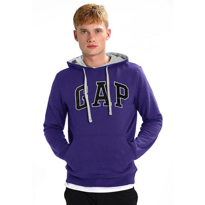 GP Logo Fleece Pull Over Hoodie Men's Pullover Hoodie Fiza Purple XS