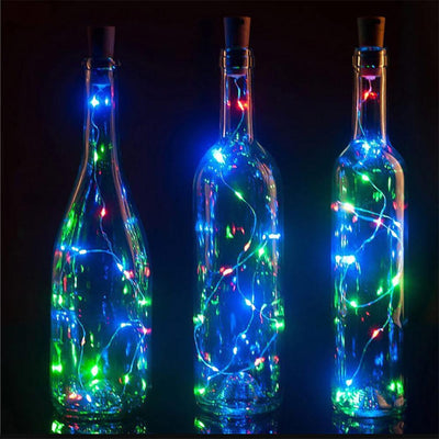 20 LED Copper Wire String Assorted Colour Light with Bottle Stopper Electronics Sunshine China