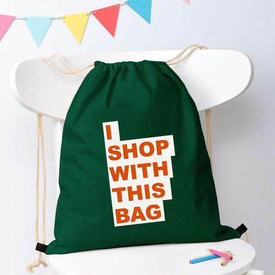 Polo Republica Shop With This Bag Drawstring Bag Drawstring Bag Polo Republica Bottle Green