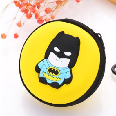 Cartoon Character Headphone Storage Bag Storage Bag Sunshine China Batman Yellow