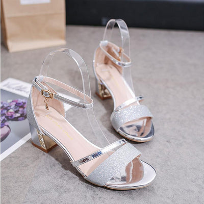 Xin Chao Chin Glittering Open Toe Sandals Women's Shoes Sunshine China Silver EUR 35