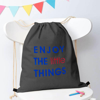 Polo Republica Enjoy Little Things Drawstring Bag Drawstring Bag Polo Republica Graphite Royal