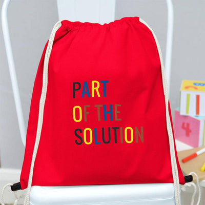 Polo Republica Part Of The Solution Drawstring Bag Drawstring Bag Polo Republica Red