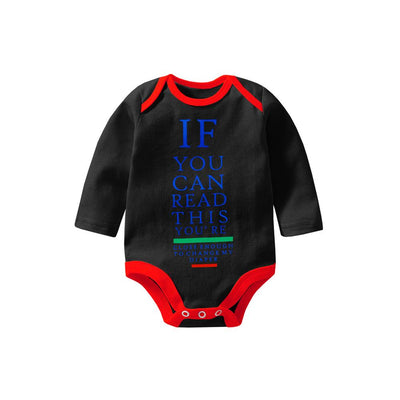 Polo Republica If You Can Long Sleeve Baby Romper Babywear Polo Republica Black Red 0-3 Months
