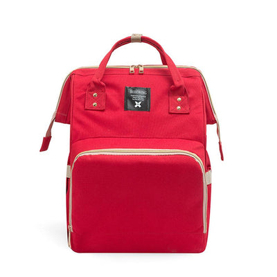 Bebewing Solid Baby Diaper Backpack Bag Women's Accessories Sunshine China Red