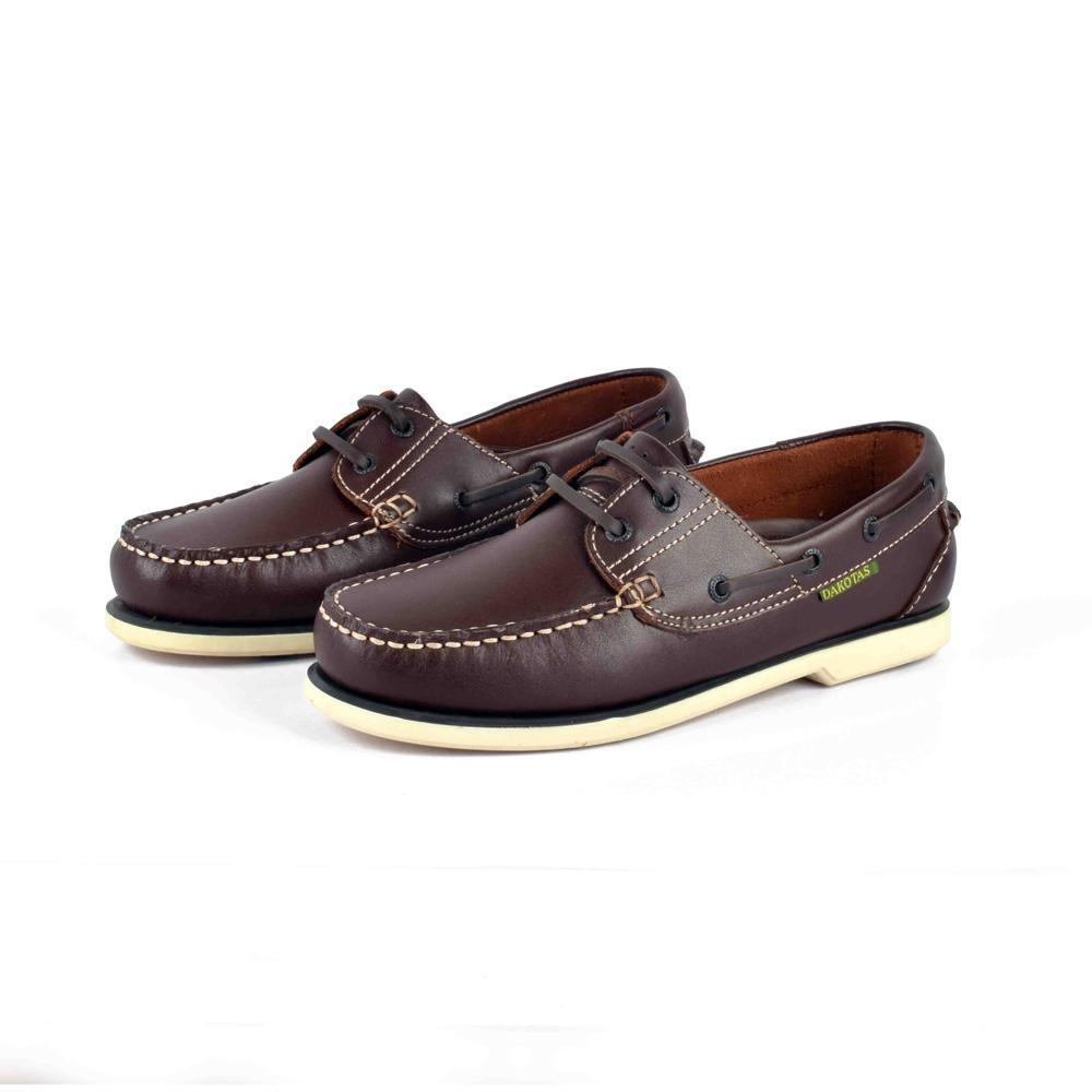 Dakotas Men's Genuine Leather Classy Boat Shoes Men's Shoes MB Traders Coffee EUR 37