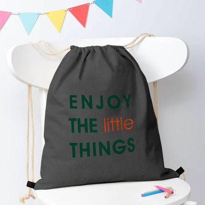 Polo Republica Enjoy Little Things Drawstring Bag Drawstring Bag Polo Republica Graphite Green