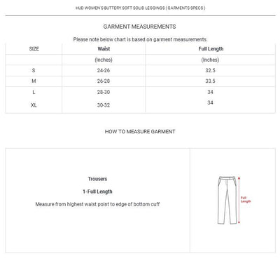 HUD Women's Buttery Soft Solid Leggings Women's Trousers MHJ