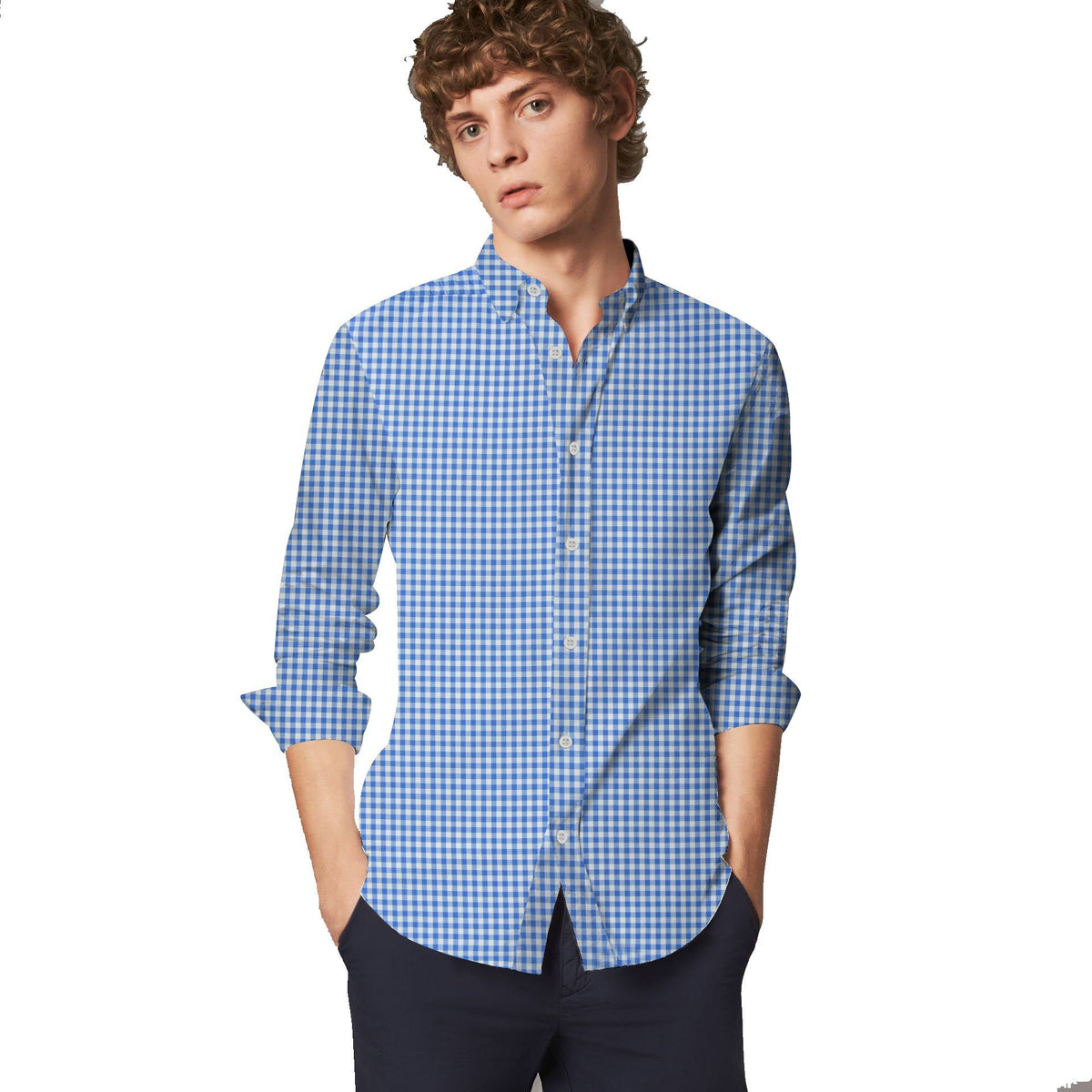 SRT Men's Gingham Slim Fit Casual Shirt Men's Casual Shirt SRT S