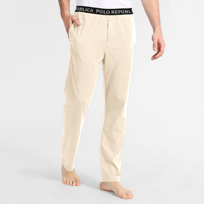Polo Republica Vodice Casual Lounge Pants Men's Sleep Wear Polo Republica Cream S