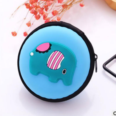 Cartoon Character Headphone Storage Bag Storage Bag Sunshine China Elephant Sky Blue