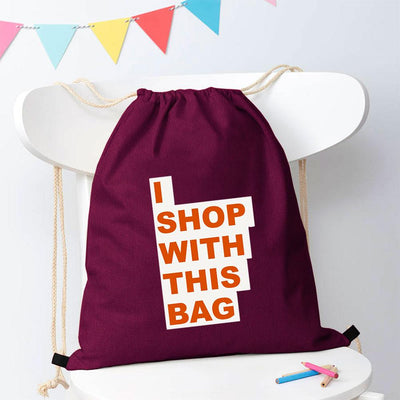 Polo Republica Shop With This Bag Drawstring Bag Drawstring Bag Polo Republica Burgundy Orange