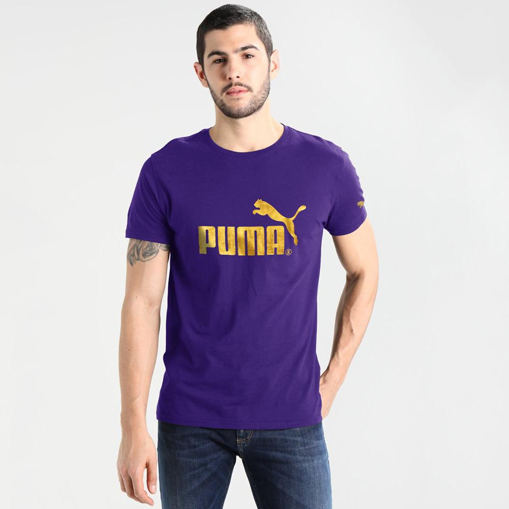 PMA Sport Lifestyle Crew Neck Tee Shirt Men's Tee Shirt Fiza Purple S