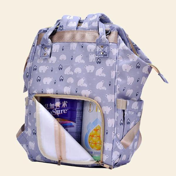 Bebewing Printed Baby Diaper Backpack Bag Women's Accessories Sunshine China Bear Print