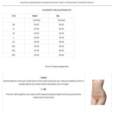 High Waist Tummy Control Body Shaper Slimming Briefs Women's lingerie Sunshine China