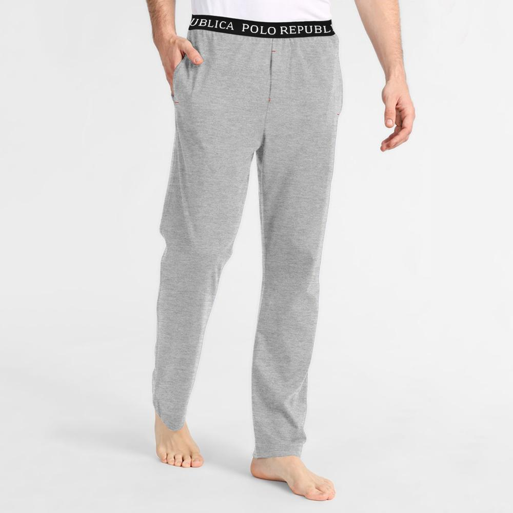 Polo Republica Vodice Casual Lounge Pants Men's Sleep Wear Polo Republica Heather Grey S