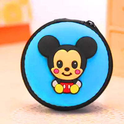 Cartoon Character Headphone Storage Bag Storage Bag Sunshine China Panda Purple