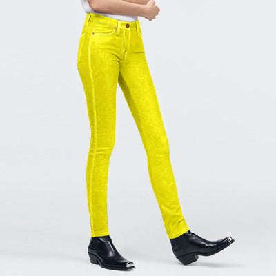 Urban Diva Women's Censi Super Stretch Comfy Jeggings Women's Jeggings AGZ Fluorescent Yellow S
