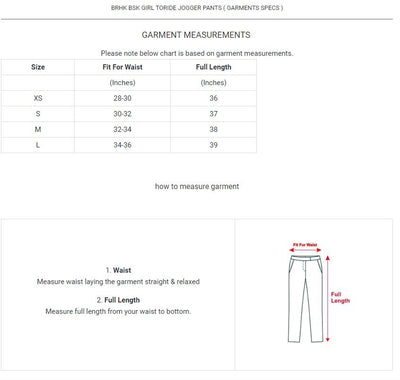 BRHK Bsk Girl Toride Terry Jogger Pants Women's Trousers Fiza