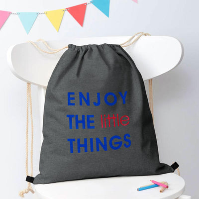 Polo Republica Enjoy Little Things Drawstring Bag Drawstring Bag Polo Republica Charcoal Royal