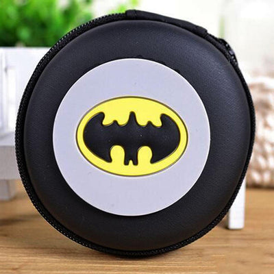 Cartoon Character Headphone Storage Bag Storage Bag Sunshine China Batman Logo Black