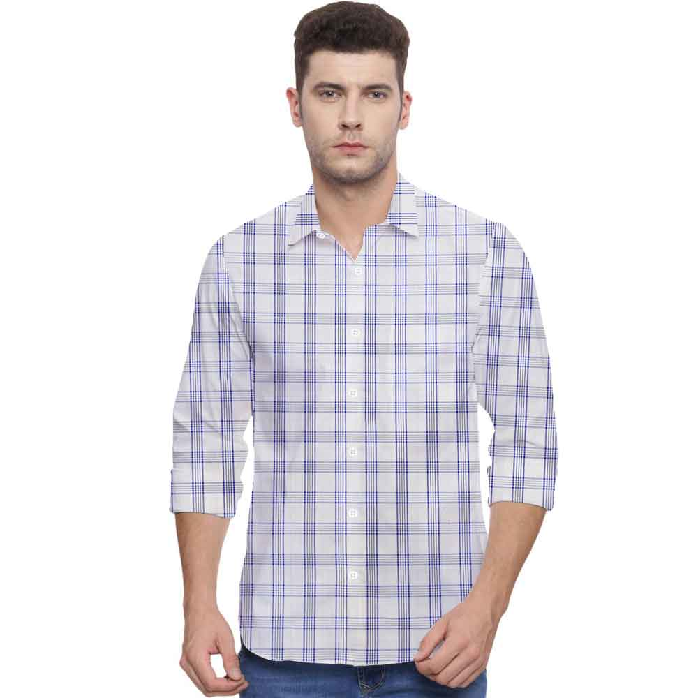 SRT Men's Broadway Checkered Casual Shirt Men's Casual Shirt SRT S