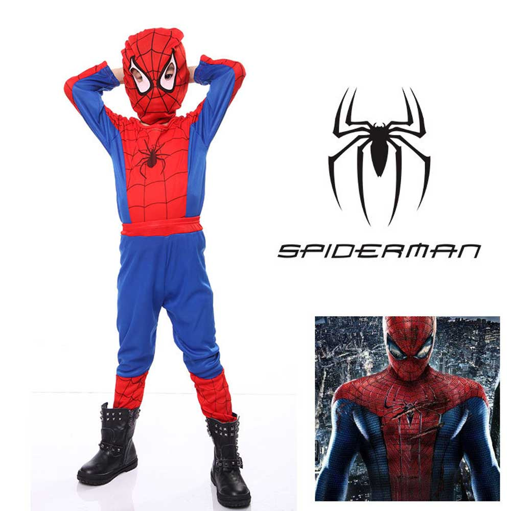 Kid's Peter Parker Classic Spider Man Costume Costume ALLADIN MERCHANTS S