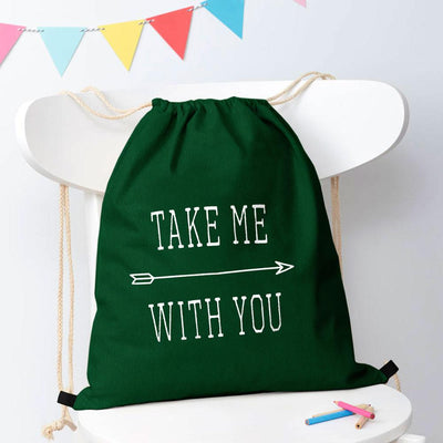 Polo Republica Take Me With You Drawstring Bag Drawstring Bag Polo Republica Bottle Green White